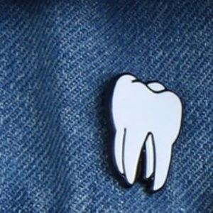 New! Tooth Enamel Pin Brooch Jewelry Molar Teeth